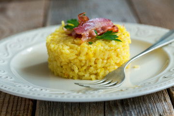 Risotto with saffron.
