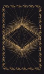 Tarot cards - back design. Sun of Byzantium