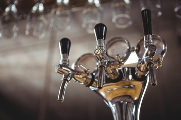 View of glasses and tap