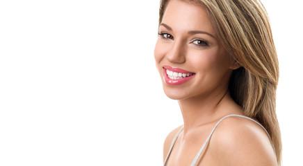Beautiful woman with healthy teeth