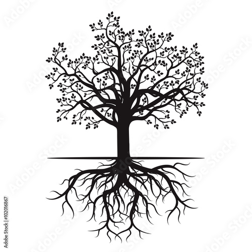 quot black tree and roots vector illustration  quot  stock image family reunion clip art free family reunion clip art borders