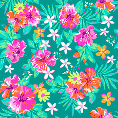 Cute tropical print ~ seamless background