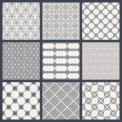Vintage backgrounds in Arabic style. Black and white