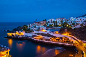 Beautiful night panorama in Tenerife, Spain
