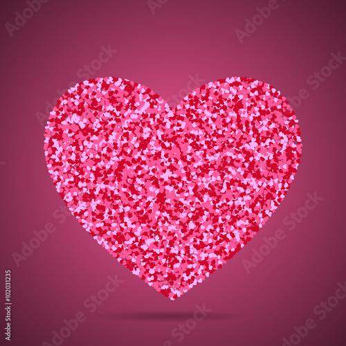 Confetti Heart Illustration Little Hearts Inside Of Big Heart