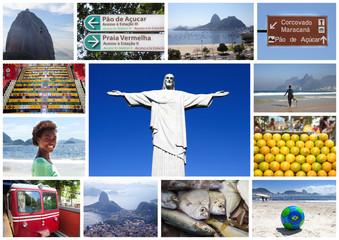 Christus Statue und 12 weitere Motive aus Rio de Janeiro