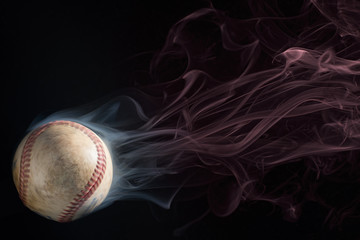 Spinning Smoking Hot Baseball
