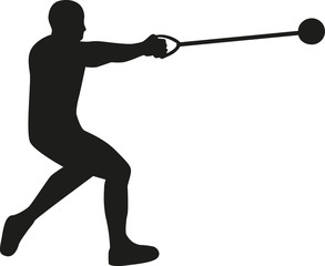 Hammer throw silhouette