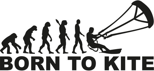 Born to kite evolution