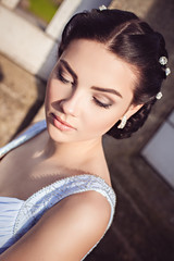 Portrait of sensual fashion young woman