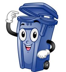 Mascot Trash Can