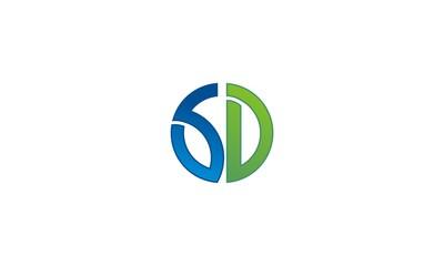 letter SD logo design
