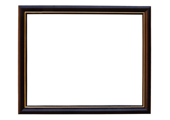 Picture frame  made with Teak isolated with clipping path.