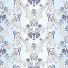 Vector pattern inspired by  paisley. Damask seamless pattern. For wrapping, wallpaper, textile