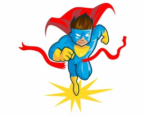 superhero character vector