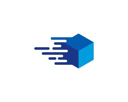 Box Exprees Logo Design Template