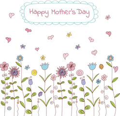 Mother's day greeting card. Vector template