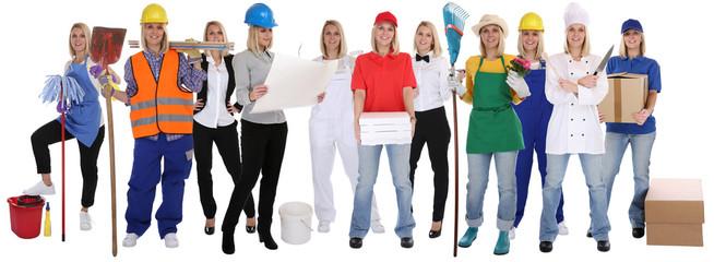Beruf Berufe Ausbildung Gruppe Frau Berufswahl Menschen stehen F