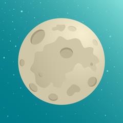 Cartoon illustration of the moon