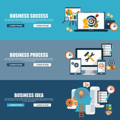 Teamwork design flat concept business success