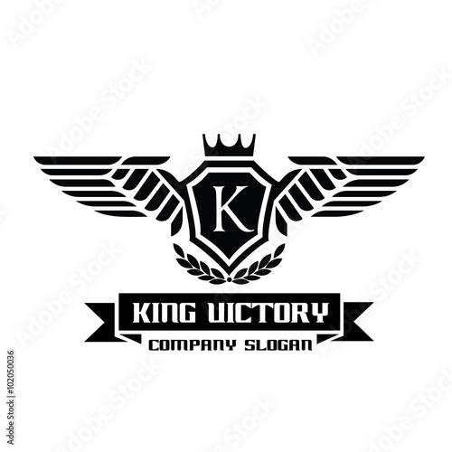 king victory logo crest logo hotel logo game logo vector logo