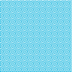 Greek seamless pattern background. Blue and white color.