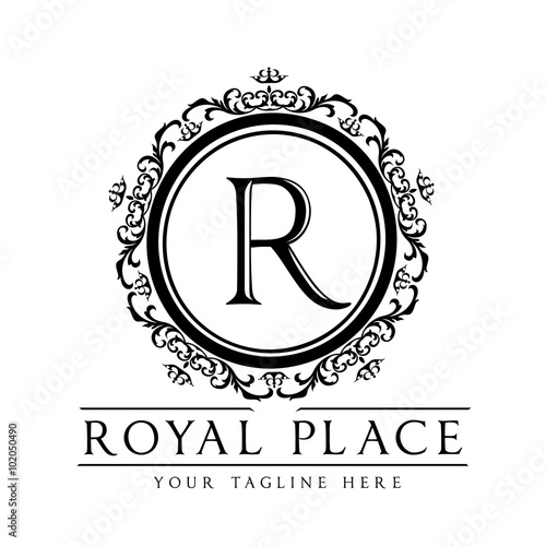royal placer letter logovector logo template