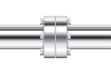 Chrome pipe with flange.