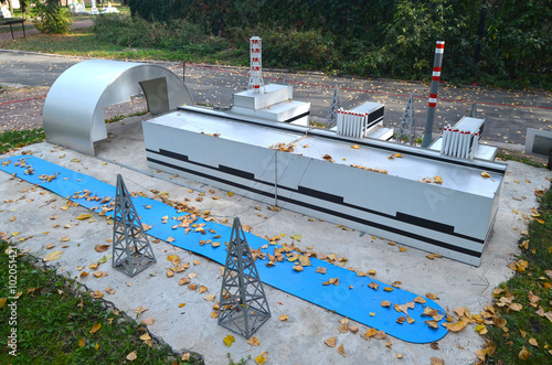 Chernobyl nuclear power plant layout small scale stock photo chernobyl nuclear power plant layout small scale ccuart Images