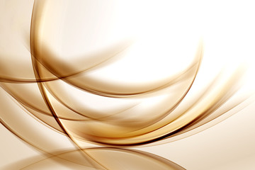 Gold Lines Abstract Background