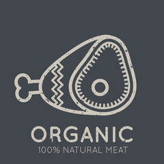 Nutrition emblem with meat