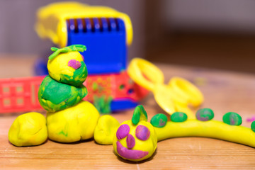 modeling dough / tinkered works from modeling dough