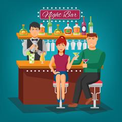 Night Bar Design Concept