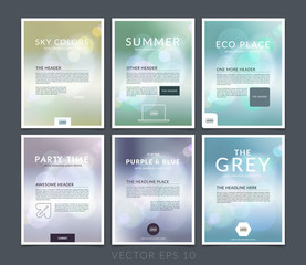 Set of Abstract business brochure, flyer and cover design layout