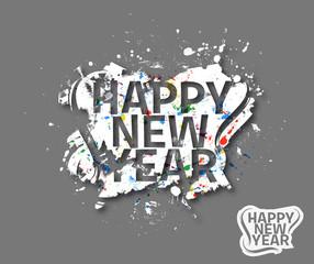Happy new year Text Design