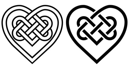 Intertwined Heart in Celtic Knot