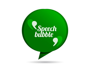 Origami speech bubble vector with quotes signs.