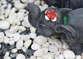 elephant sculpture at garden