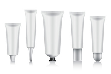 Cosmetic Packaging : Plastic Tube : Vector Illustration