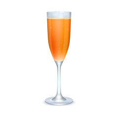 Glass of orange cocktail