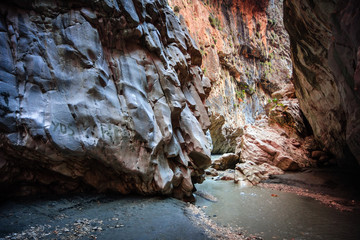 Saklikent Gorge smooth stone walls, Turkey