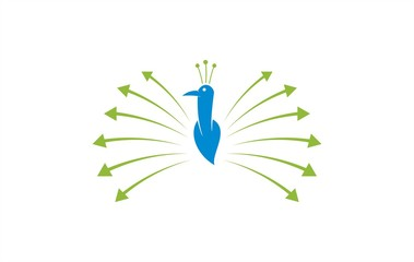 arrow peacok