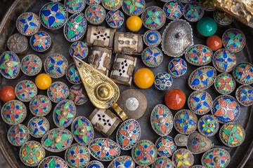 Multicolored Moroccan souvenirs