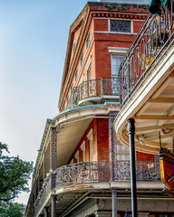 French Quarter Balconies by Jackson Square New Orleans