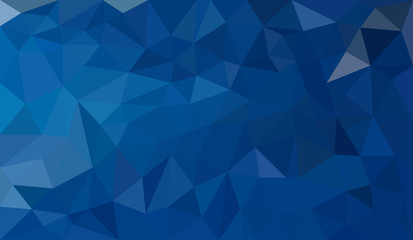 Blue abstract geometric triangular polygon style illustration graphic background Wall mural