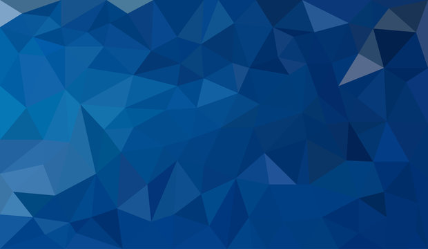Blue abstract geometric triangular polygon style illustration graphic background