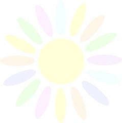 Солнышко с разноцветными лучами