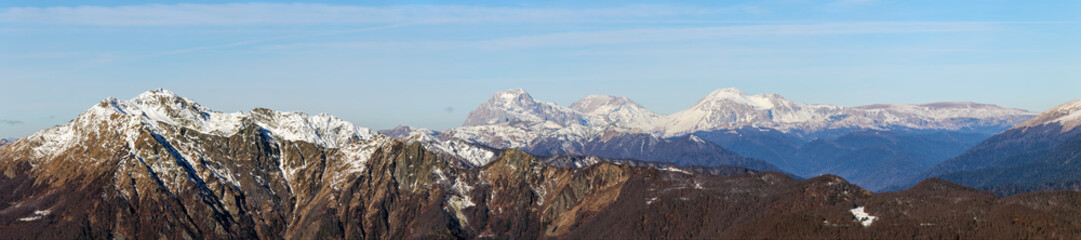 panorama of the Caucasus mountain