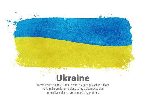 flag of Ukraine. vector illustration