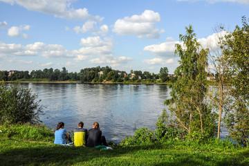 Three at the river.